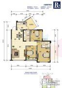 锦绣星城3室2厅2卫78平方米户型图