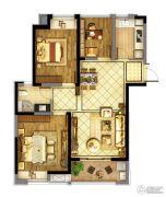 东方兰园3室2厅1卫95平方米户型图