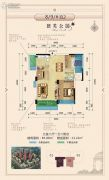 益通・枫情尚城3室2厅1卫85平方米户型图