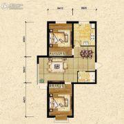 瑞士风情小镇三期铂邸2室2厅1卫86平方米户型图