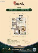 碧桂园太东公园上城3室2厅1卫93--94平方米户型图