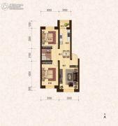 建龙・班芙小镇2室2厅1卫72平方米户型图
