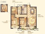 红豆香江豪庭3室2厅1卫102平方米户型图
