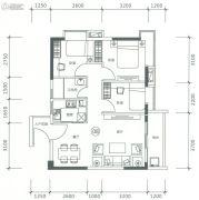 正太广场3室2厅1卫81平方米户型图