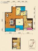 博雅锦苑1室2厅1卫83平方米户型图