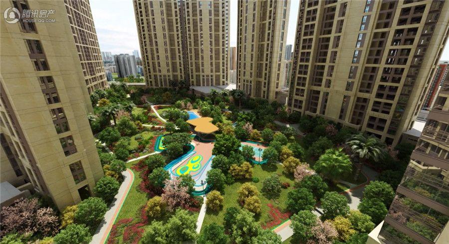龙湖春江郦城中庭景观图