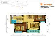 盘龙理想城2室2厅0卫81平方米户型图