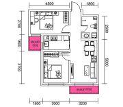 千翔尚城2室1厅1卫73平方米户型图