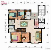 太阳世家4室2厅2卫166平方米户型图