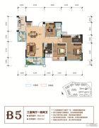 天立香缇华府3室2厅2卫111--123平方米户型图