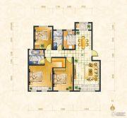 绿地・中央广场3室2厅2卫122平方米户型图
