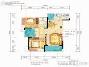 佳兆业滨江新城3室2厅1卫0平方米户型图