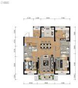 信达万科城3室2厅2卫120平方米户型图