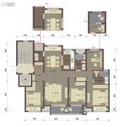桂语里4室2厅2卫128平方米户型图