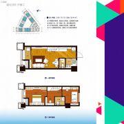 正元新都汇2室1厅2卫0平方米户型图