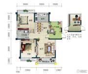 春华星运城2室2厅1卫92平方米户型图