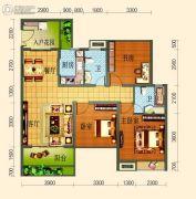 滨河壹号3室2厅2卫87平方米户型图