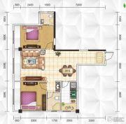 九立方国际购物中心2室1厅2卫89平方米户型图