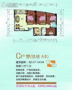 泛亚国际4室2厅2卫143平方米户型图