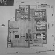 唐轩首府2室2厅1卫84平方米户型图