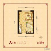 红龙湾1室1厅1卫28平方米户型图