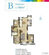 现代奥城4室2厅2卫190平方米户型图