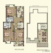 观山名筑3室2厅3卫168--176平方米户型图