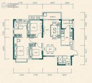 恒大世纪城3室2厅2卫101平方米户型图