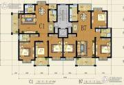 望阳上东区3室2厅2卫127平方米户型图