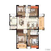 琥珀森林4室2厅2卫139平方米户型图