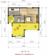 林海溪谷1室1厅1卫0平方米户型图