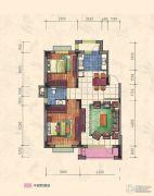 力旺康城2室2厅1卫90平方米户型图
