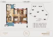 凤翔湖滨世纪3室2厅2卫88平方米户型图