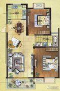 富城湾2室2厅1卫91平方米户型图
