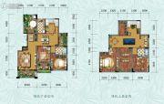 中铁逸都3室2厅1卫130平方米户型图
