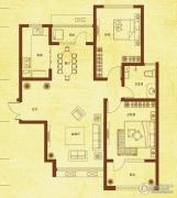 国赫红珊湾2室2厅1卫88平方米户型图