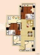 新城市宜家2室1厅1卫64平方米户型图