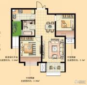 国基城邦逸境2室2厅1卫73平方米户型图