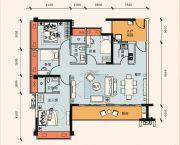 正邦华颢豪庭4室2厅2卫103平方米户型图