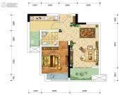 金融街融景城1室2厅1卫43平方米户型图
