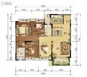 绿地城4室2厅2卫132平方米户型图