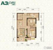 普天格兰绿都2室2厅1卫90平方米户型图