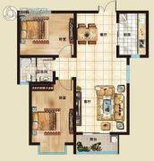 海山广场2室2厅1卫93平方米户型图
