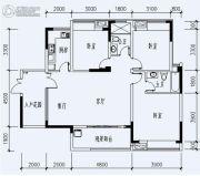 福星城3室2厅1卫121平方米户型图