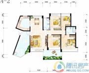 雅居乐十里花巷3室2厅2卫121平方米户型图