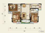 凤凰星城3室2厅1卫111平方米户型图
