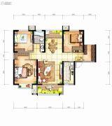 坤元TIME3室2厅1卫108平方米户型图
