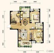 明发城市广场3室2厅1卫94平方米户型图