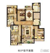 中冶梧桐园4室2厅2卫130平方米户型图