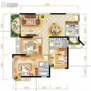 辉和・和畅国际3室2厅2卫98平方米户型图